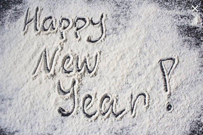 Happy New Year Snow